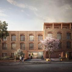 "Gort Scott diseña 45 departamentos ""de bolsillo"" en antiguo edificio de oficinas en Inglaterra"