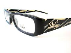 New Dolce & Gabbana Eyeglasses D&G 1135 Black Zebra 719 Authentic 51-16-135 #DG #Rectangular