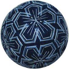 藍のグラデーションの糸かがり