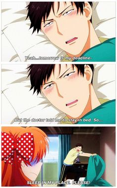 Image result for gekkan shoujo nozaki-kun joke