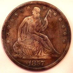 1857-S Seated Liberty Half Dollar VF/XF Coin
