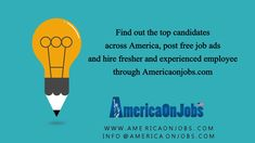 Sign Up for free, you can hire top recruits for Latest Job Vacancies in different domains. • Free Job Postings • Latest Recruitment tools • Download updated candidate Resumes • Free company advertisement AmericaOnJobs.com- Quickest way to find job seekers and close new openings timely! Visit us @ www.americaonjobs.com  #Vacancies #Opportunities #Careers #LatestJobinUSA #OnlineJobFinder #jobs Job Search Websites, Free Job Posting, Job Ads, Job Seekers, Find A Job, Good Job, Online Jobs, Resume, Sign