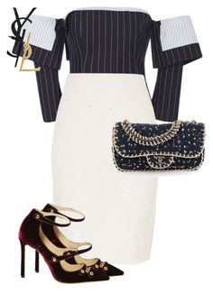 """Untitled #480"" by sh-66-sh on Polyvore featuring Monse, River Island, Jimmy Choo, Chanel and Yves Saint Laurent"