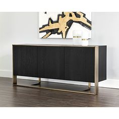 Sunpan Modern Dalton Antique Brass Sideboard