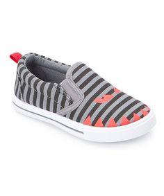 Loving this Black Stripe Monster-Face Slip-On Sneaker on #zulily! #zulilyfinds