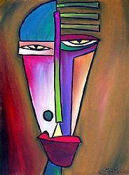 Art: Faces 24 by Artist Thomas C. Fedro