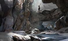 Snow Cavern, Chris Whelan on ArtStation at https://www.artstation.com/artwork/RnKeW
