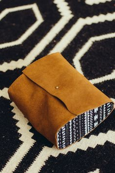 Wood & Leather Clutch