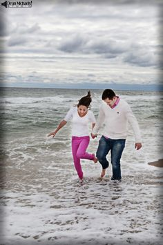 Alisa & Stan's October 2014 #engagement #portrait at Sandy Hook! (photo by deanmichaelstudio.com) #love #ring #beach #fall #photography #deanmichaelstudio