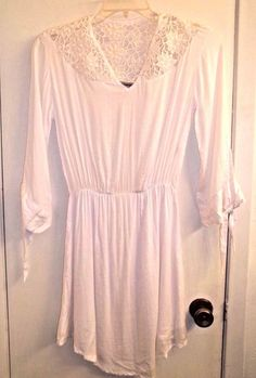 Tiare Hawaii size s/m Sheer White Dress Beach Cover with  Lace Beach Wedding…