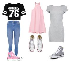 """My Fav Outfits"" by lildae ❤ liked on Polyvore featuring Boohoo, MANGO, River Island and Converse"