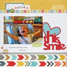 love this smile {Simple Stories} - Scrapbook.com