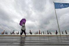 Températures basses, pluie et nuages gris à Deauville en juillet 2012. Un scénario qui pourrait se répéter tous les ans.