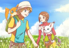 Takeru and Hikari My childhood demands this be canon!