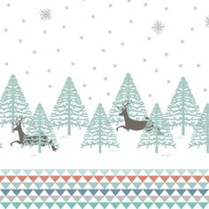 Hawthorne Threads - Winter Fawn - Boreal Border in Winter