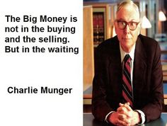 Charlie Munger quotes on value investing. Patience is the key in Value Investing. One must know exactly when to buy and sell a good value stock. Quotes Dream, Life Quotes Love, Stock Market Investing, Investing In Stocks, Silver Investing, Value Investing, Investing Money, Robert Kiyosaki, Business Motivation