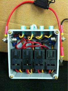 Simple four relay box.