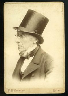 e9b8e44bb1e Cabinet-Portrait-VICTORIAN-GENTLEMAN-named-TOP-HAT-Spectacles-Rugby-c1870s