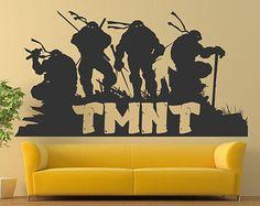 teenage mutant ninja turtles tmnt wall decals vinyl decals murals sticker children decals ninja turtle room decorblack