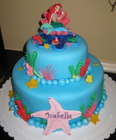pinterest ariel cake | Pin Little Mermaid Birthday Cake — Childrens Cakes cake picture to ...