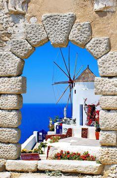 4. Colorful village of Oia at Santorini island in Greece