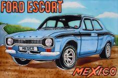 Ford Escort Mexico Decorative Ceramic Tile