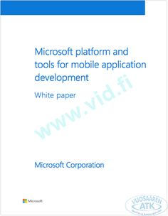 Microsoft MADP Whitepaper Microsoft Corporation, Mobile Application, White Paper, Ebooks, Free