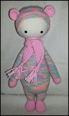 BINA the bear made by Ina G. / crochet pattern by lalylala
