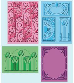 Cuttlebug Embossing Folders-4PK/Art DecoCuttlebug Embossing Folders-4PK/Art Deco,