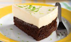 Torta gelada de limão com brownie (Cheese cake)