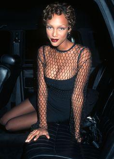 "Tyra Banks - ""Ready to Wear"" New York City Premiere; Dec. 12, 1994   - MarieClaire.com"
