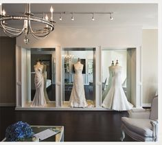 alabama bridal boutique - love the glass in the closet area where the gown in hung... very nice!