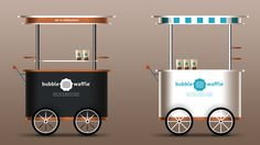 Bubble Waffle Milk Tea Cart Design #bubblewaffle #beesandvultures