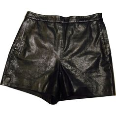 Pre-owned Dkny Leather Mini Short (£175) ❤ liked on Polyvore featuring shorts, black, women clothing shorts, leather short shorts, high-waisted shorts, hot short shorts, high-rise shorts and micro shorts
