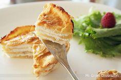 Mi Gran Diversión: Milhojas de manzana y queso de cabra