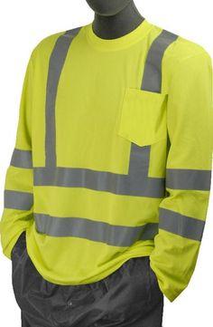610415a83b40 Safety Shirt Majestic 75-5355 Hi Vis CL3 Long Sleeve Shirt