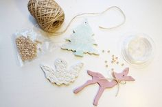 Christmas decorations in clay by DiySweden