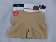Marilyn Monroe Intamites Seamless Shaping Shorts Breifs Lot of 3 Wkite Black Tan #MarilynMonroe #Boyshorts