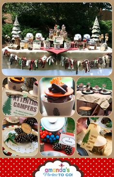Camping Party Printables Set for your Happy Campers by Amanda's Parties TO GO. $29.00, via Etsy.