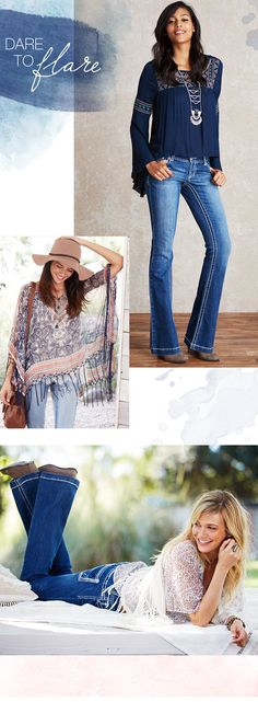 Dare to Flare - new blouses, and denim to update your wardrobe! - maurices.com
