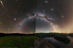NASA zverejnila fotku slovenského a českého autora - Perzeidy. Constellation, Institute Of Physics, Perseid Meteor Shower, Astronomy Pictures, Light Pollution, August 9, Dark Skies, Milky Way, Science And Nature