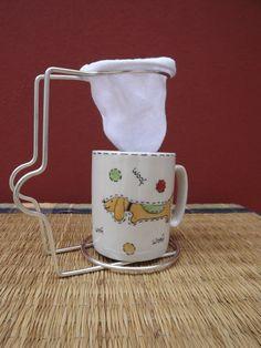 Arte em Casa by Drix Pires - Mini coador de café com canequinha