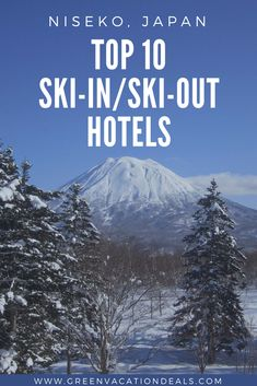 Want to take a ski holiday in Niseko Japan? One thing that will help with travel plans is picking the best skiing resort! Find out the Top 10 Niseko Japan Ski-in/Ski-Out Hotels. This list will help you choose the best place to stay in Niseko-cho, Japan. #Niseko #Japan #SkiInSkiOut #Skiing #NisekoVillage #Ski #Snowboard #Snowboarding #MountYōtei #springskiing #skijapan #MagicMarch #LoveJapan #VisitJapan #WinterSports #TeamJapan #Top10List #Japantrip #Trip
