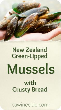 Shared by Sally Williams, Winemaker at Wither Hills.  New Zealand Green-Lipped Mussels are unique to New Zealand and a big part of our cuisine and culture. They differ from other mussel species in that they have dark brown/green shells, a green lip around the edge of their shells and they are also one of the largest mussel species. Delicious steamed or cooked in broth and they pair perfectly with New Zealand Sauvignon Blanc.