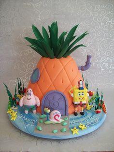 Sponge Bob cake - easier than a big, 3D Spongebob?