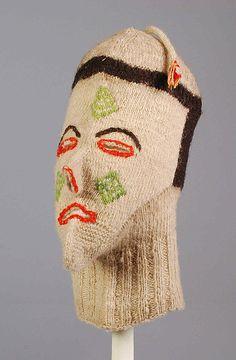 Probably Pinata Party, Inc. Ski mask, ca. 1960. The Metropolitan Museum of Art, New York. Brooklyn Museum Costume Collection at The Metropolitan Museum of Art, Gift of the Brooklyn Museum, 2009; Frank L. Babbott Fund, 1954 (2009.300.6816) #olympics #skiing