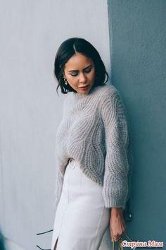 Пуловер английской резинкой схема фото 65
