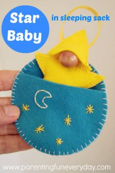 "Craft a ""Star Baby"" and His Sleeping Bag Pocket ~ http://www.parentingfuneveryday.com"