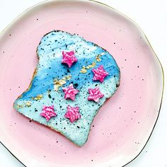 Mermaid Toast with Vibrant & Pure.