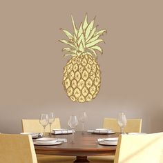 Pineapple Printed Wall Decal and Sitckers